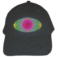 Mandala Tile Background Geometric Black Cap