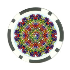 Mandala Pattern Ornaments Structure Poker Chip Card Guard (10 Pack)