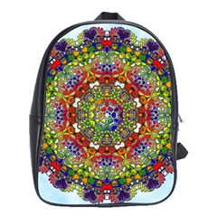 Mandala Pattern Ornaments Structure School Bag (large)