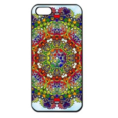 Mandala Pattern Ornaments Structure Apple Iphone 5 Seamless Case (black)