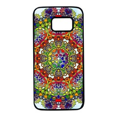 Mandala Pattern Ornaments Structure Samsung Galaxy S7 Black Seamless Case by Simbadda