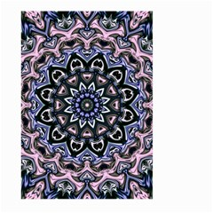 Background Kaleidoscope Abstract Large Garden Flag (two Sides) by Simbadda
