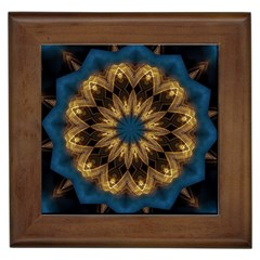 Mandala Kaleidoscope Ornaments Framed Tiles