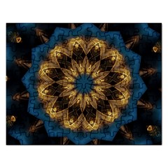 Mandala Kaleidoscope Ornaments Rectangular Jigsaw Puzzl by Simbadda