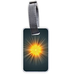 Background Mandala Sun Rays Luggage Tags (one Side)  by Simbadda