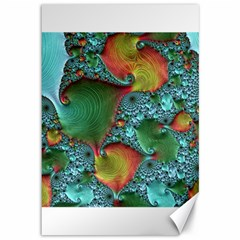 Fractal Art Colorful Pattern Canvas 12  X 18
