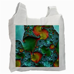 Fractal Art Colorful Pattern Recycle Bag (one Side)