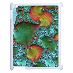 Fractal Art Colorful Pattern Apple Ipad 2 Case (white) by Simbadda