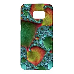 Fractal Art Colorful Pattern Samsung Galaxy S7 Edge Hardshell Case