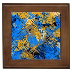 Circle Rings Abstract Optics Framed Tiles