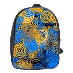 Circle Rings Abstract Optics School Bag (xl)