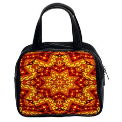 Kaleidoscope Mandala Recreation Classic Handbag (two Sides)