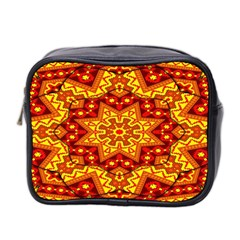 Kaleidoscope Mandala Recreation Mini Toiletries Bag (two Sides) by Simbadda
