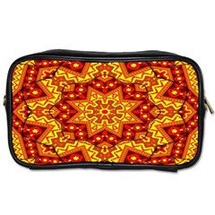 Kaleidoscope Mandala Recreation Toiletries Bag (two Sides) by Simbadda