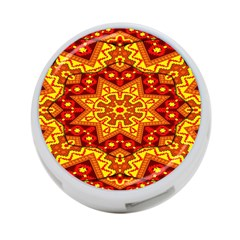 Kaleidoscope Mandala Recreation 4 Port Usb Hub (two Sides)