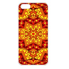 Kaleidoscope Mandala Recreation Apple Iphone 5 Seamless Case (white) by Simbadda