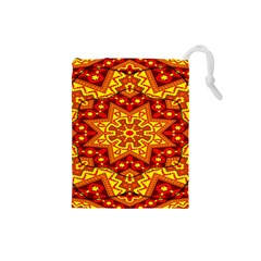 Kaleidoscope Mandala Recreation Drawstring Pouch (small) by Simbadda