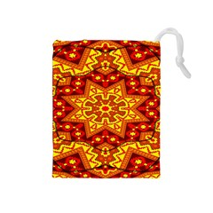 Kaleidoscope Mandala Recreation Drawstring Pouch (medium) by Simbadda