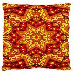 Kaleidoscope Mandala Recreation Large Flano Cushion Case (one Side)