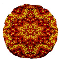 Kaleidoscope Mandala Recreation Large 18  Premium Flano Round Cushions by Simbadda