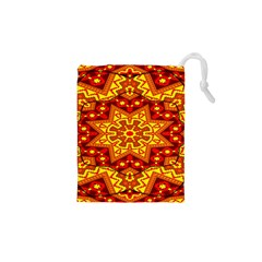 Kaleidoscope Mandala Recreation Drawstring Pouch (xs) by Simbadda