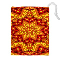 Kaleidoscope Mandala Recreation Drawstring Pouch (xxl) by Simbadda