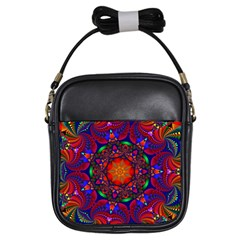 Kaleidoscope Mandala Pattern Girls Sling Bag