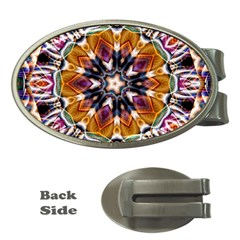 Kaleidoscope Pattern Kaleydograf Money Clips (oval)