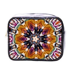 Kaleidoscope Pattern Kaleydograf Mini Toiletries Bag (one Side) by Simbadda