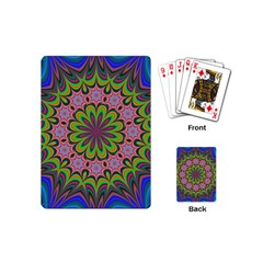Floral Fractal Star Render Playing Cards (mini)