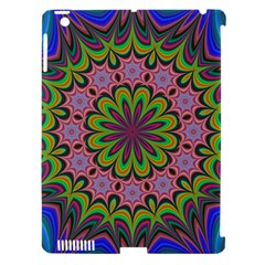 Floral Fractal Star Render Apple Ipad 3/4 Hardshell Case (compatible With Smart Cover)