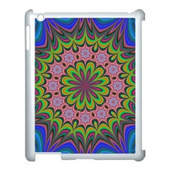 Floral Fractal Star Render Apple Ipad 3/4 Case (white) by Simbadda