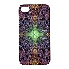 Mandala Carpet Pattern Geometry Apple Iphone 4/4s Hardshell Case With Stand by Simbadda