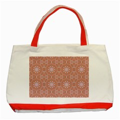 Vintage Abstract Background Mandala Classic Tote Bag (red)