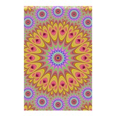 Geometric Flower Oriental Ornament Shower Curtain 48  X 72  (small)  by Simbadda