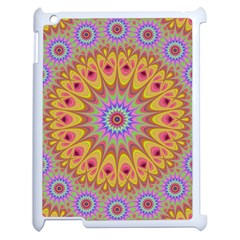 Geometric Flower Oriental Ornament Apple Ipad 2 Case (white) by Simbadda