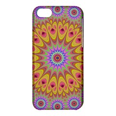 Geometric Flower Oriental Ornament Apple Iphone 5c Hardshell Case by Simbadda