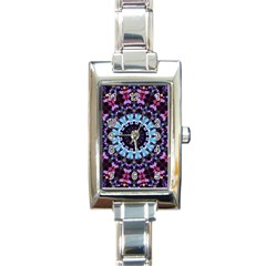 Kaleidoscope Shape Abstract Design Rectangle Italian Charm Watch by Simbadda