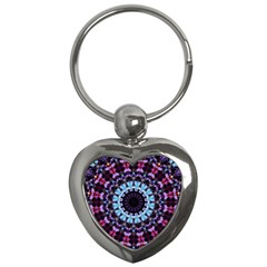 Kaleidoscope Shape Abstract Design Key Chains (heart)  by Simbadda