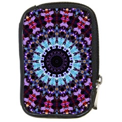 Kaleidoscope Shape Abstract Design Compact Camera Leather Case by Simbadda