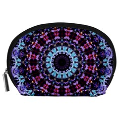 Kaleidoscope Shape Abstract Design Accessory Pouch (large)