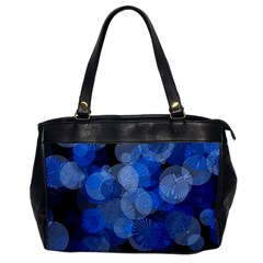 Circle Rings Abstract Optics Oversize Office Handbag