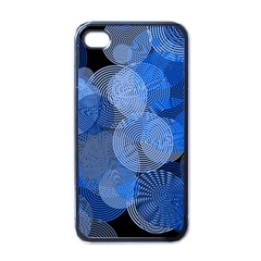 Circle Rings Abstract Optics Apple Iphone 4 Case (black)