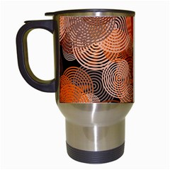 Circle Rings Abstract Optics Travel Mugs (white) by Simbadda