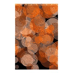 Circle Rings Abstract Optics Shower Curtain 48  X 72  (small)
