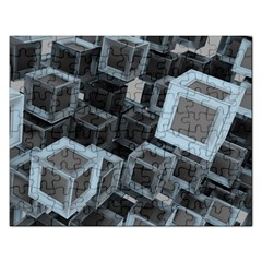 3d Cube Fantasy Square Shape Rectangular Jigsaw Puzzl