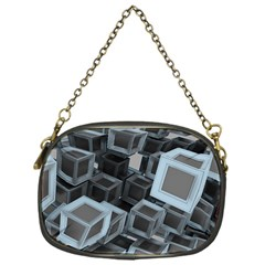 3d Cube Fantasy Square Shape Chain Purse (one Side) by Simbadda
