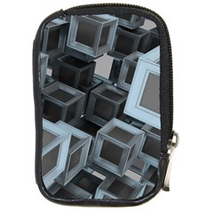 3d Cube Fantasy Square Shape Compact Camera Leather Case by Simbadda