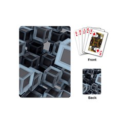 3d Cube Fantasy Square Shape Playing Cards (mini) by Simbadda