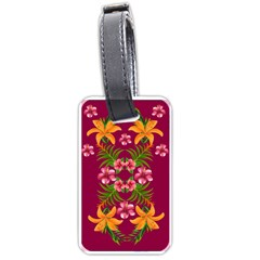 Blossom Yellow Flower Yellow Summer Luggage Tags (two Sides) by Simbadda